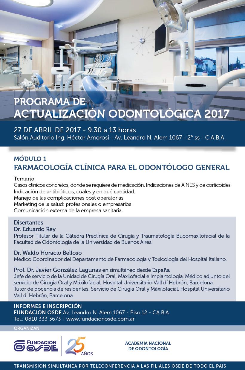 Curso de Farmacología Clínica Para el Odontólogo en General.